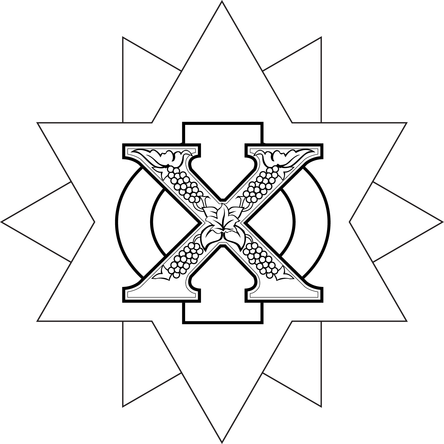Brand identity chi phi fraternity 1824 chakett superimposed with chi and phi black white biocorpaavc Gallery